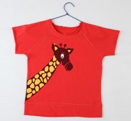 Jiraffa Giraffe - Ragian Short Sleeves